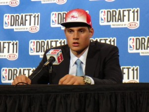 Nikola Vucevic at the 2011 NBA Draft Photo by Seth Rubinroit