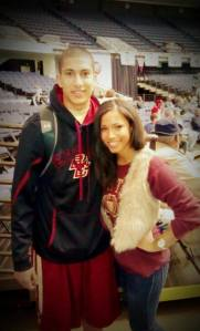 Former USC Song Girl Shea Jackson with her brother, Lonnie, a guard on Boston College. (Courtesy of Shea Jackson)
