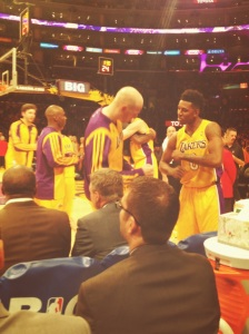 Nick Young has already developed a pregame dance with Chris Kaman (Coral Silverberg/Galen Central)