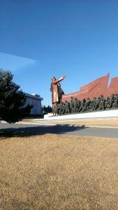 Statues of Kim Il-Sung and Kim Jong-Il in North Korea (Courtesy of Jerry Dupree)