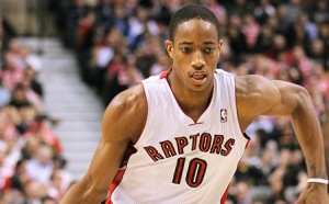 Former Trojan DeMar DeRozan had 36 points in a 118-105 loss to the Clippers Friday. (Photo courtesy: Operation Sports)