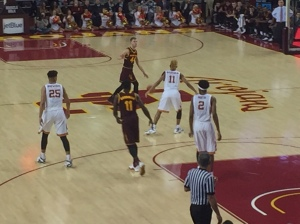 USC's two freshman, Boatwright (25) and Metu (2) still have work to do on the boards.