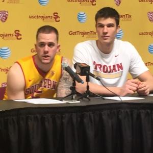 Katin Reinhardt and Nikola Jovanovic stepped up for the Trojans Thursday night.