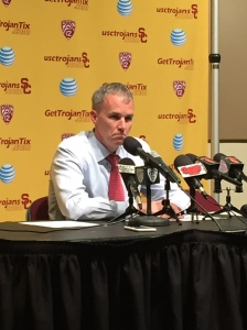 Andy Enfield wasn't pleased after USC's first home loss of the season.
