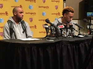 Julian Jacobs (left) had some thoughts on USC's NCAA hopes.